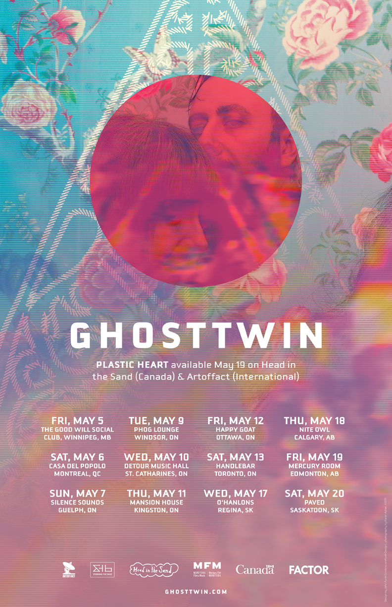 Ghost Twin Spring 2017 Tour Poster